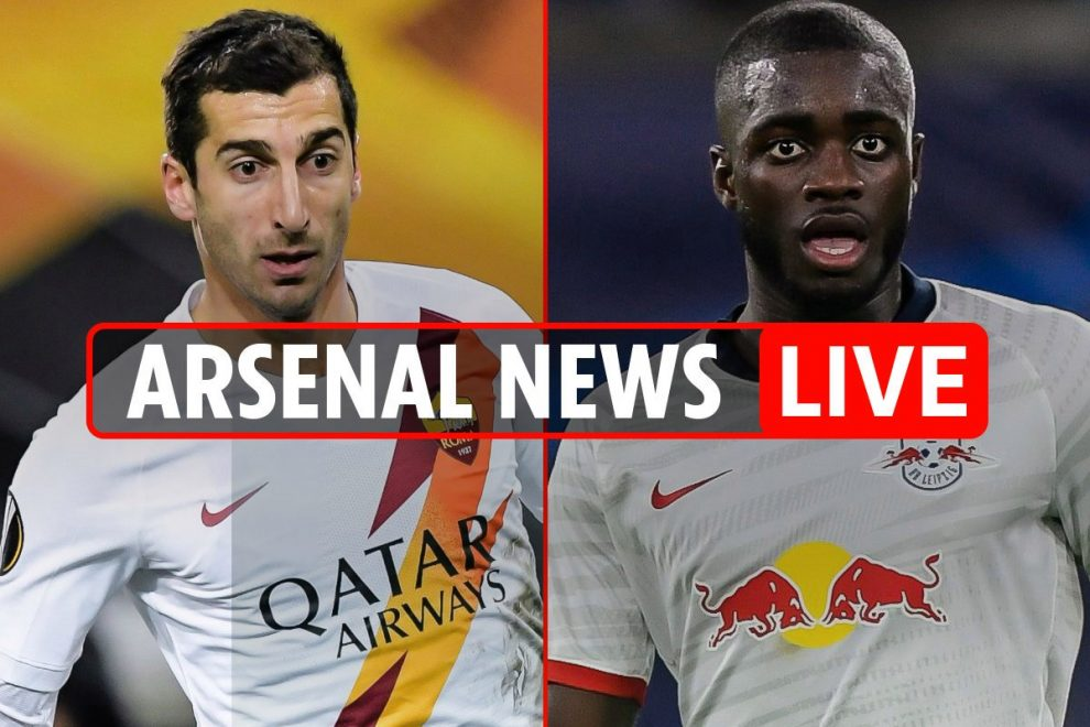 11am Arsenal news LIVE: Mkhitaryan pay cut to stay at Roma, Upamecano transfer boost and Ceballos loan extension