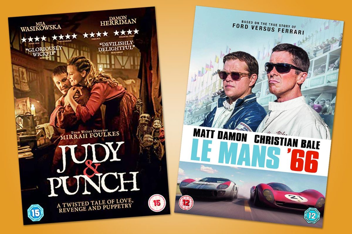 Check out this week's top DVDs picks from the twisted treat Judy And Punch to Matt Damon's bromance in Le Mans '66