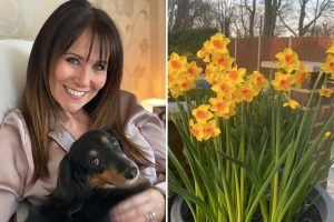 Linda Lusardi reveals she's feeling much better as she spends the day in the sun after coronavirus battle