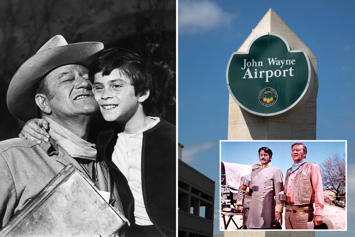 John Wayne's son says his father was 'not a racist' after push to rename Orange County's John Wayne Airport