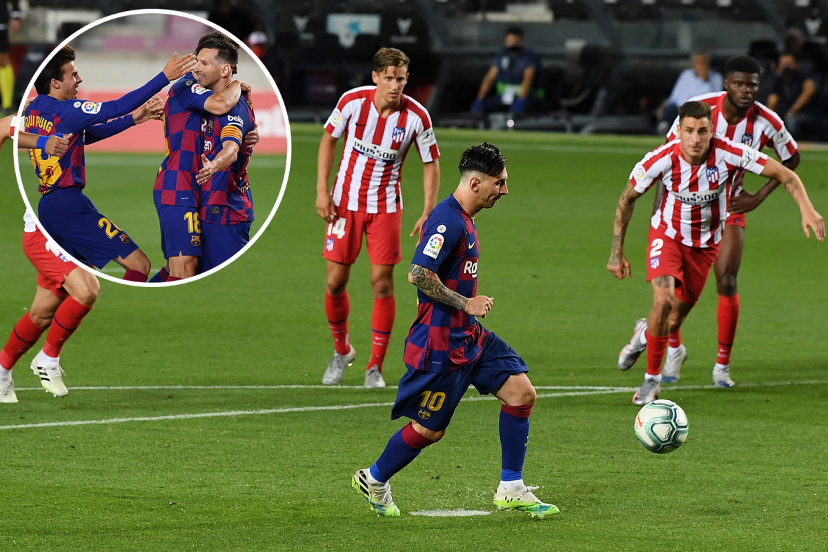 Watch Messi score 700th goal with panenka vs Atletico Madrid as Barcelona star joins Cristiano Ronaldo in exclusive club