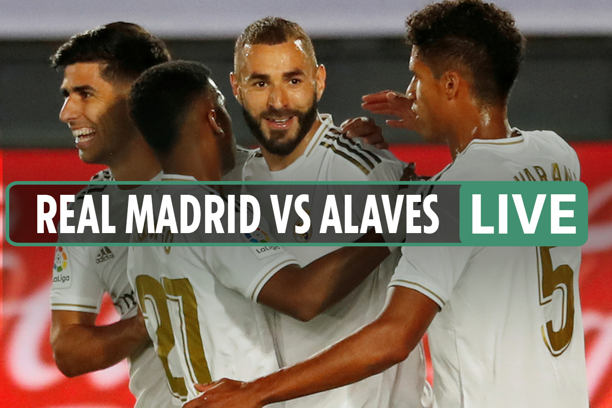 Real Madrid vs Alaves LIVE: Stream, TV channel, kick-off time and team news for TONIGHT'S La Liga clash
