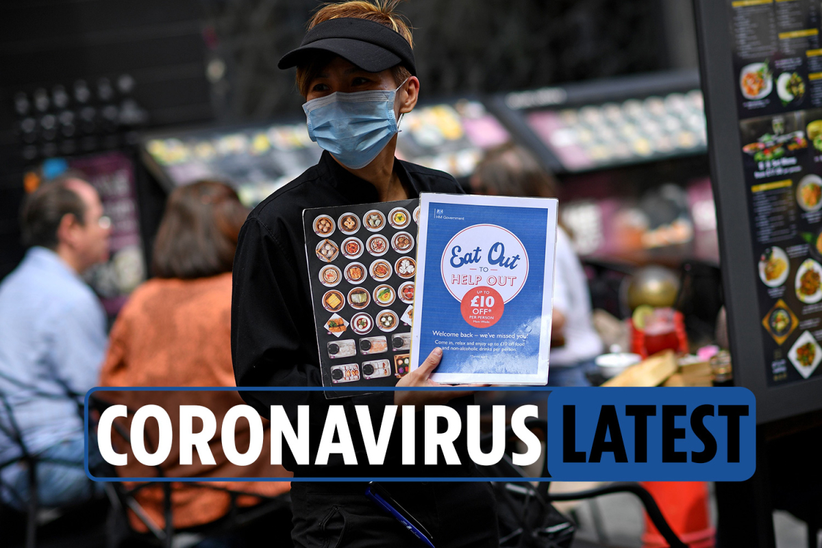 Coronavirus UK news LIVE: Eat Out to Help Out scheme extended by some restaurants as 16 new deaths recorded
