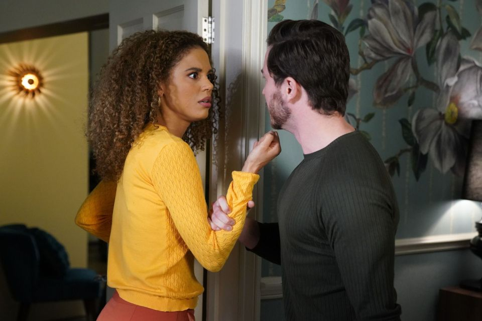 EastEnders' Chantelle Atkins will find her 'inner Taylor' to stand up to abusive Gray