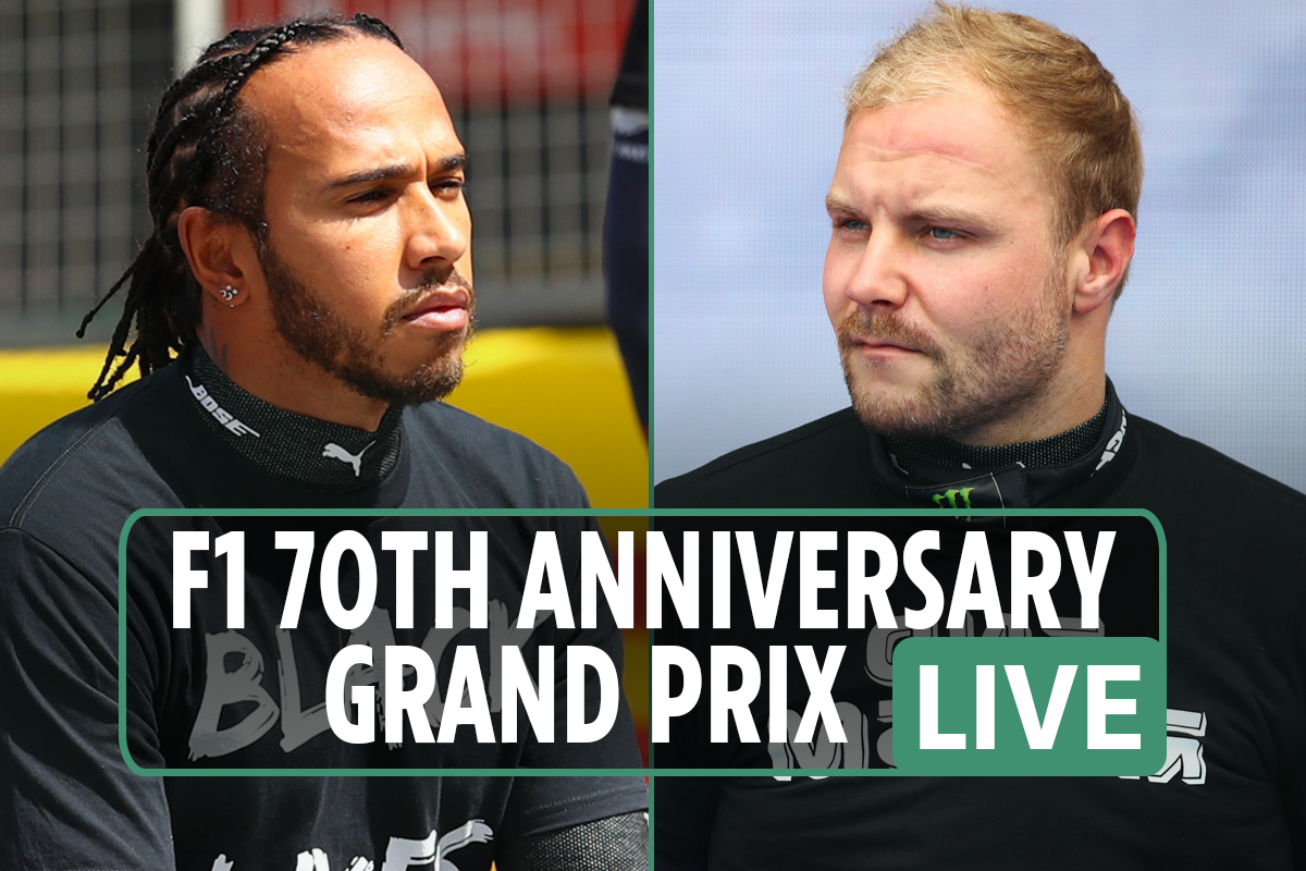 F1 70th Anniversary Grand Prix LIVE RESULTS: Lewis Hamilton starting from second as team-mate Bottas takes pole