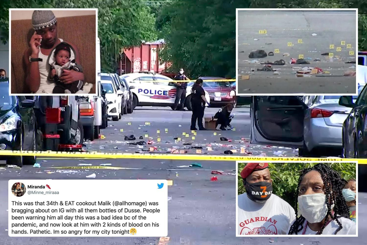 Father of one killed and at least 20 others injured when MULTIPLE gunmen open fire at Washington DC block party