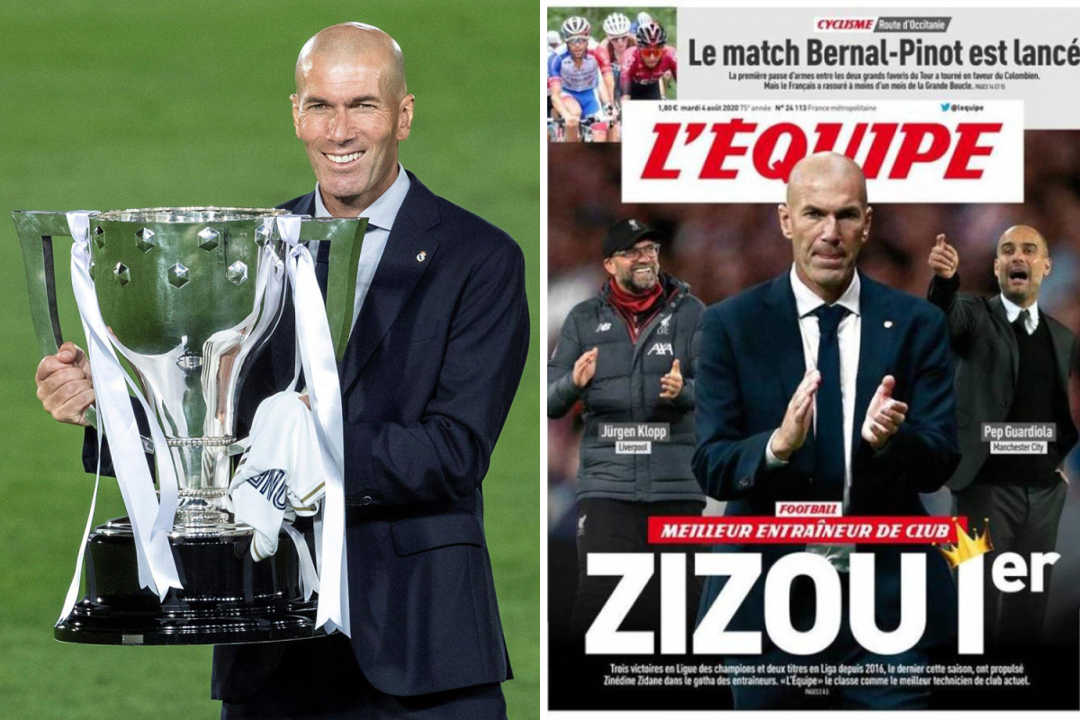 Zidane beats Klopp and Guardiola to be named best manager in world by L'Equipe… but Mourinho 'has lost his mojo'
