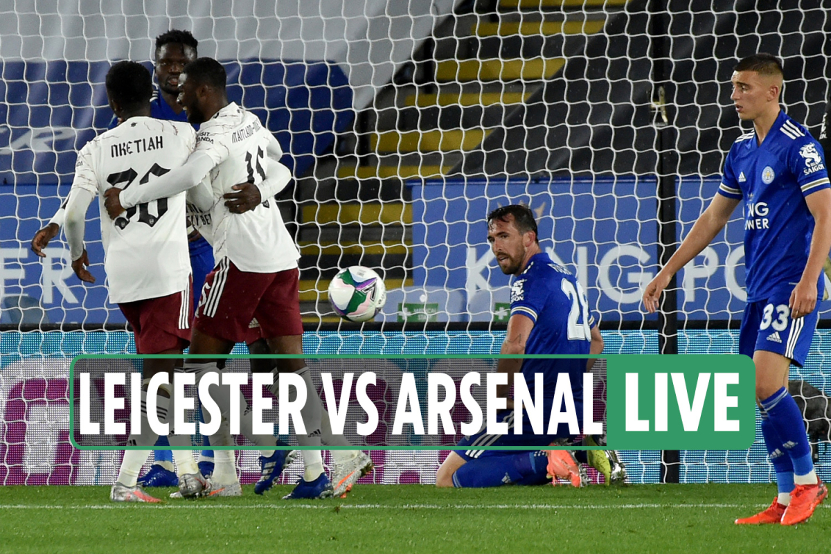 Leicester 0-2 Arsenal LIVE RESULT: Nketiah scores again as Gunners set up possible Liverpool Carabao Cup 4th round tie