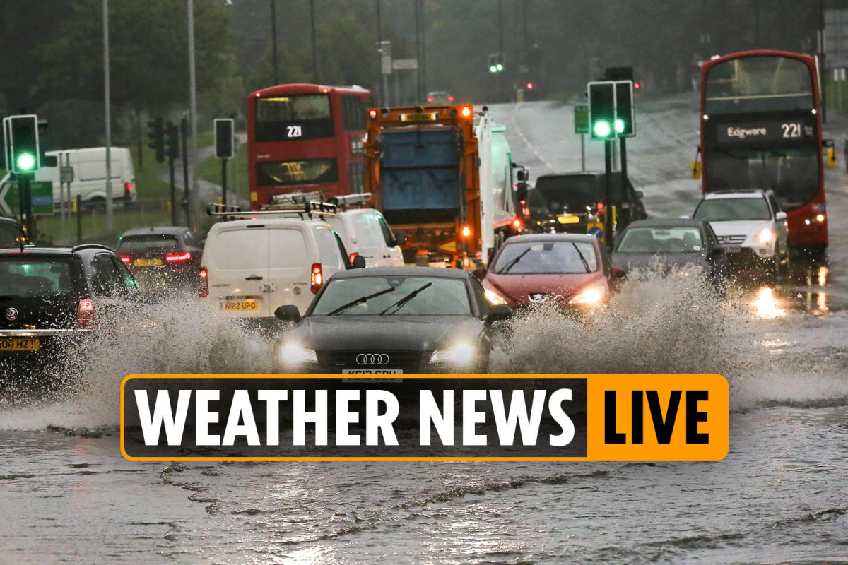 Weather forecast today – 'DANGER TO LIFE' warning from Met Office as barrage of heavy rain and wind batters the UK